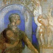 Odilon Redon: El caballero místico. Edipo y la Esfinge (1869)