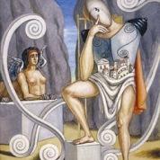 Giorgio de Chirico: Edipo y la Esfinge
