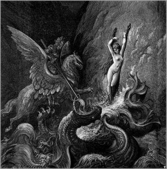 Ilustración de Orlando Furioso de Gustav Doré