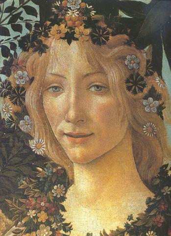Detalle de La primavera de Botticelli