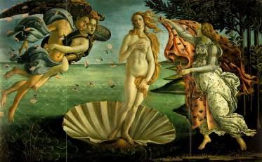 El nacimiento de Venus de Botticelii