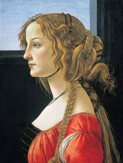 Retrato de Simonetta Vespucci de Botticelli