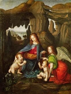 La Virgen de las rocas de Leonardo da Vinci
