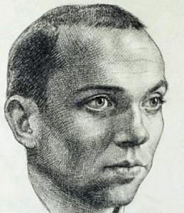Retrato de Miguel Hernández realizado por Antonio Buero Vallejo en la cárcel