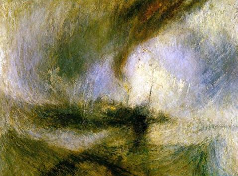 """Tormenta de nieve"" (1842) de William Turner"