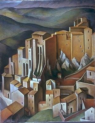 Alexander Kanoldt, Olevano, 1927