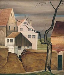 Houses with a tree, 1927-Lenk