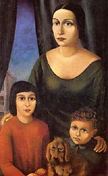 Mother with Children 1925-Carlo-Mense