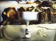 Dalí-Aparicion de un rostro y un frutero en la playa-1938