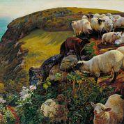 William_Holman_Hunt_-_Our_English_Coasts,_1852_(`Strayed_Sheep')