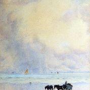 William_Ayerst_Ingram_-_Horse_And_Cart_On_Beach