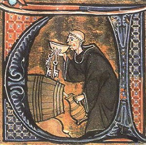 Monje bebiendo