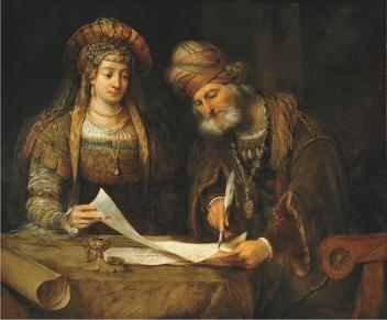 ester-y-mardoqueo-escribiendo-la-primera-carta-del-purim-de-aert-de-gelder