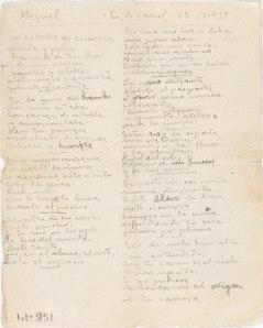 """Manuscrito de """"Nanas de la cebolla"""""""